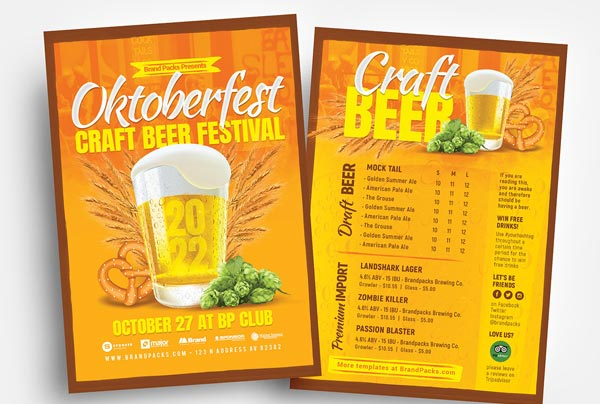 Carft Beer Flyer Template