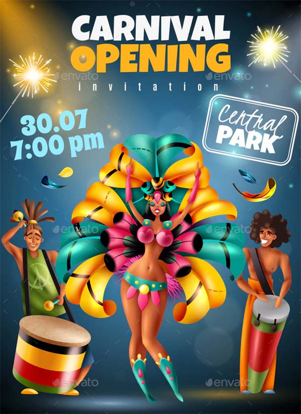 Carnival Announcement Poster Template