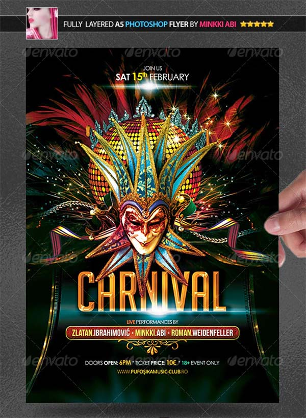 Carnival Party Poster and Flyer Template
