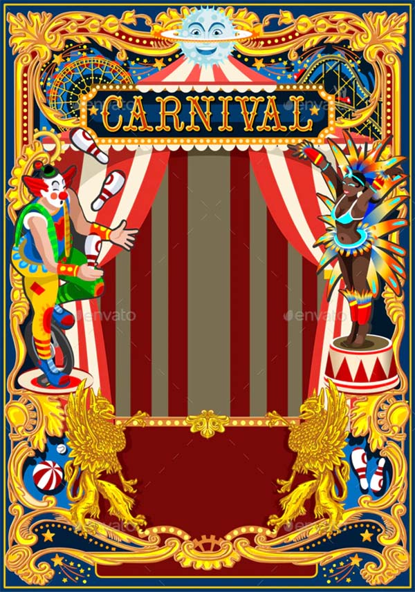 Carnival Poster Circus Theme Template