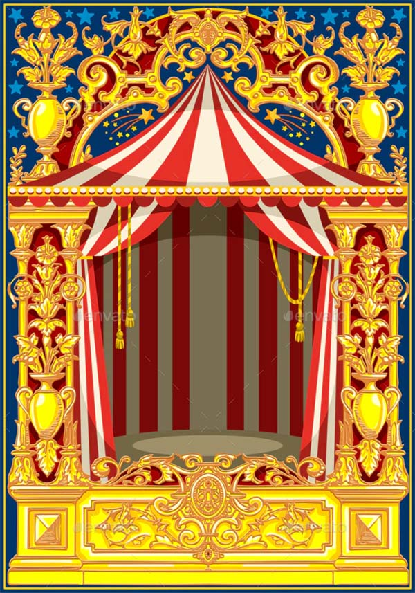 Carnival Poster Vintage Circus Theme Template