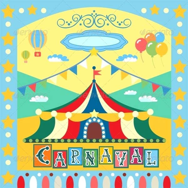 Carnival Vector Poster Template