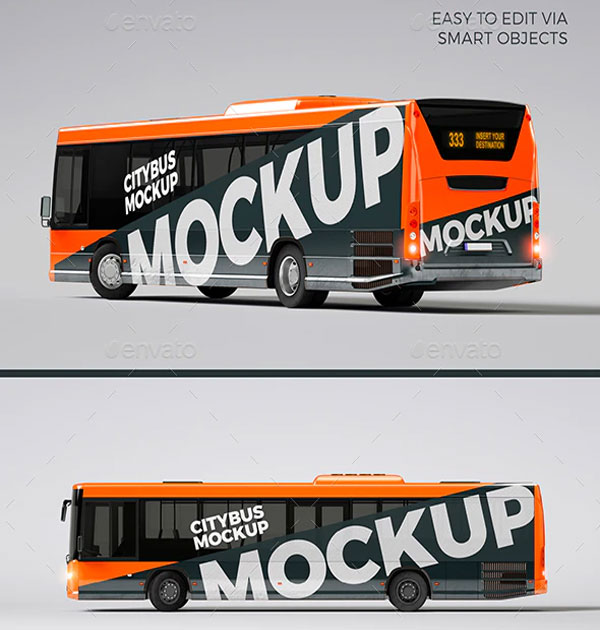 City Bus Mockup Template