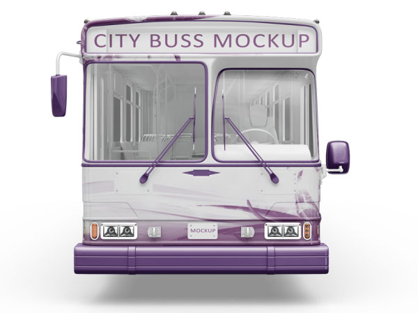 City Bus PSD Mockup Template