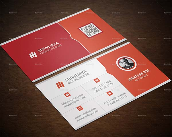 Clean Minimalist Business Card Design
