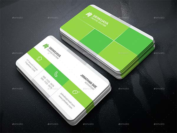 Clean Minimalist Business Card PSD Template