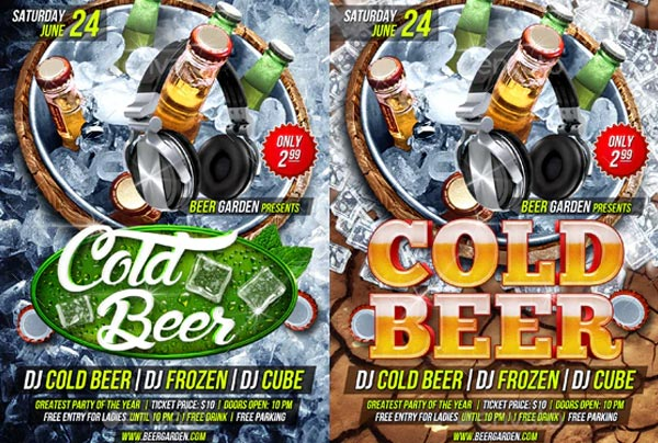 Cold Party Beer Flyer Template
