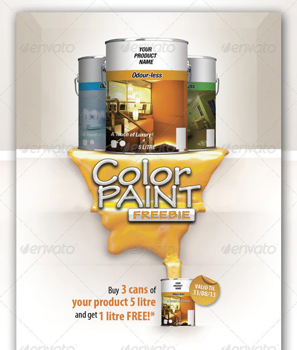 Color Paint Freebie Flyer