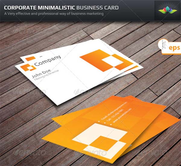 Corporate Minimalistic Business Card