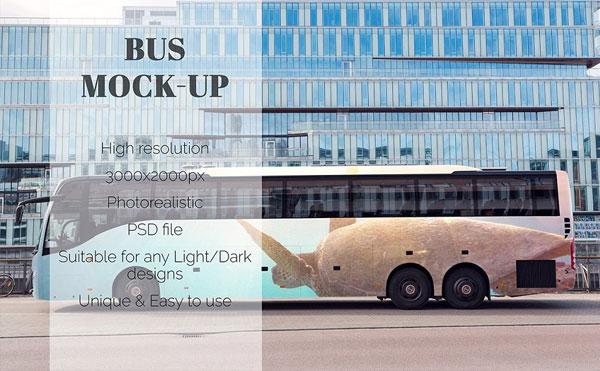 Editable Bus Mockup