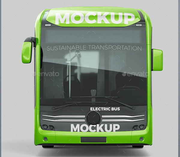 Electric Bus Mockup Template