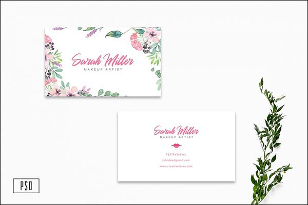 Floral Minimalist Business Card Templates