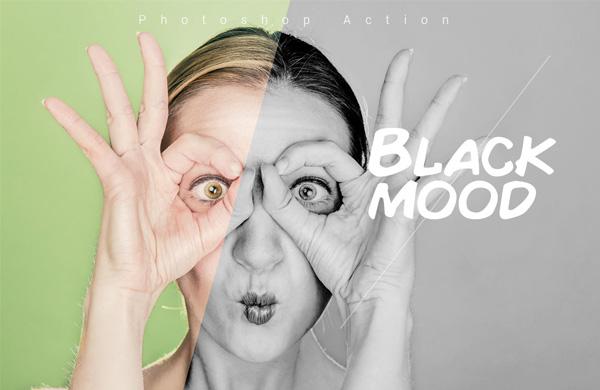 Free Black Mood Photoshop Action
