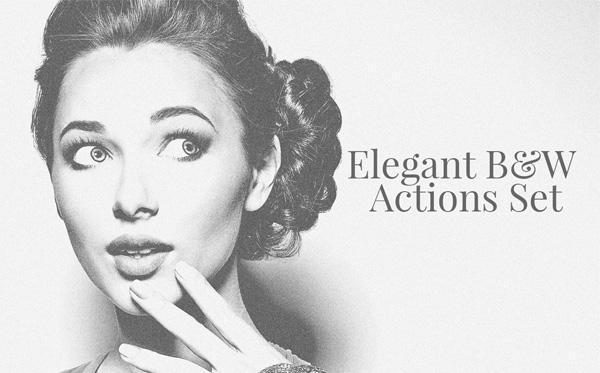 Free Elegant B&W Photoshop Actions Set