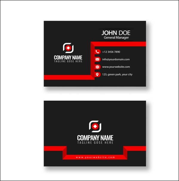 Free PSD Minimalist Business Card Template