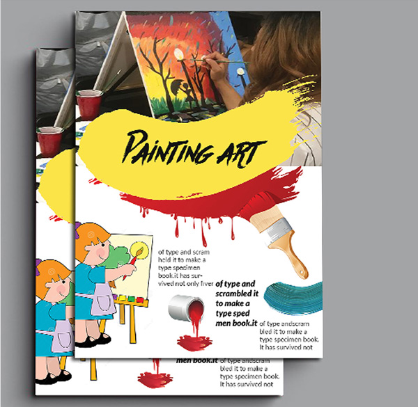 Free Paint Art Flyer Design