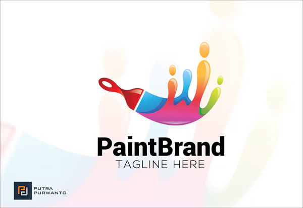 Free Paint Brand Logo Template