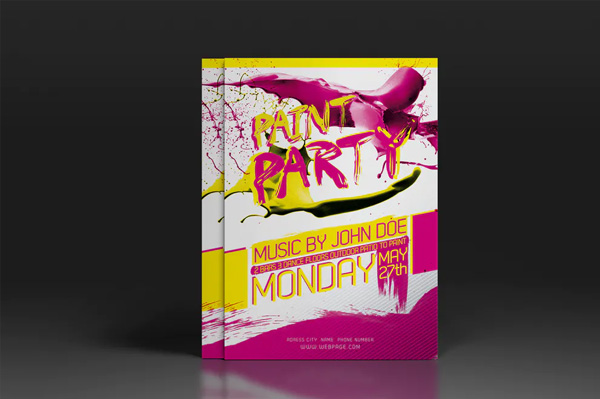 Free Paint Party Flyer or Poster