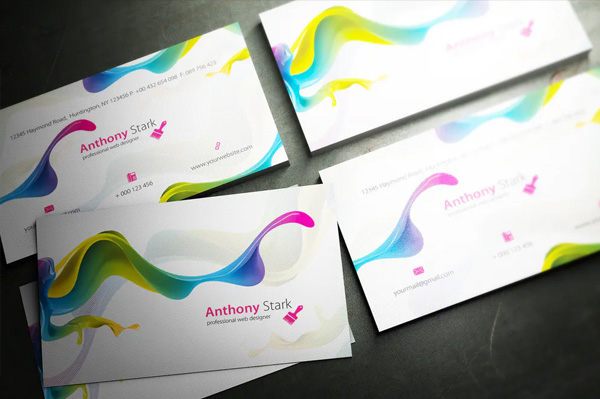 Free Painted Business Card Design