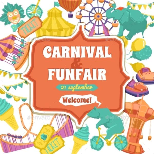 Fun Fair and Carnival Poster Template