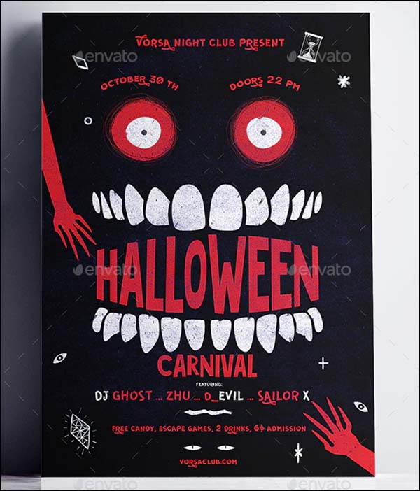 Halloween Carnival Poster Template