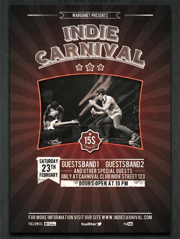 Indie Carnival Flyer & Poster Template