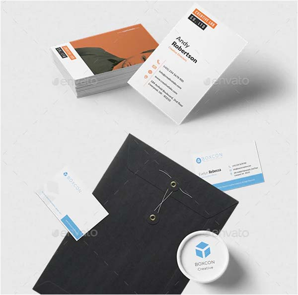 Minimalist Agency Business Card Template