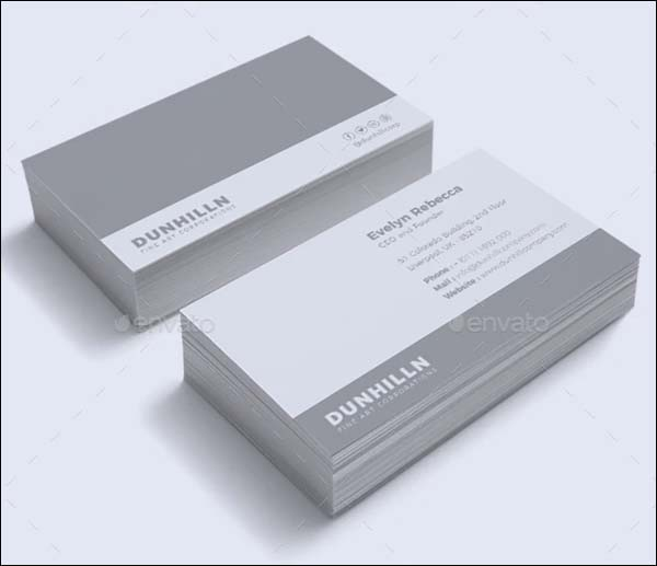 Minimalist Business Card Templates