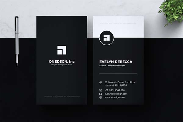 Minimalist Business PSD Card Design