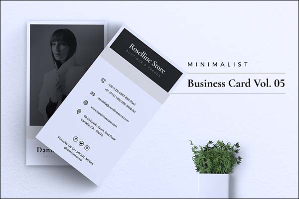 Minimalist PSD Business Card Template