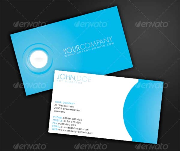 Minimalistic Blue Business Card Template