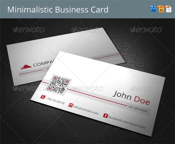 Minimalistic Business Card PSD Template