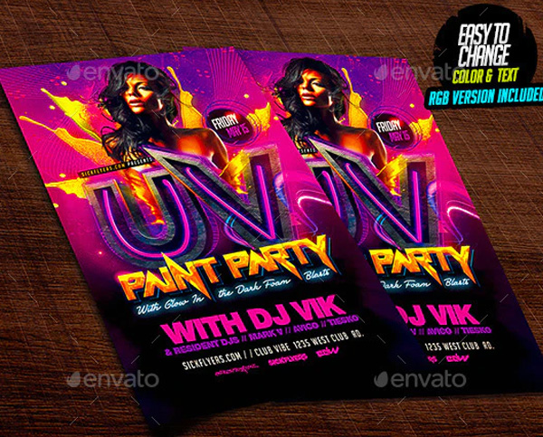 Paint Party Flyer Design Template