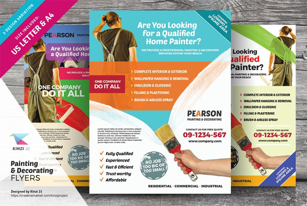 Painting and Decorating Flyers
