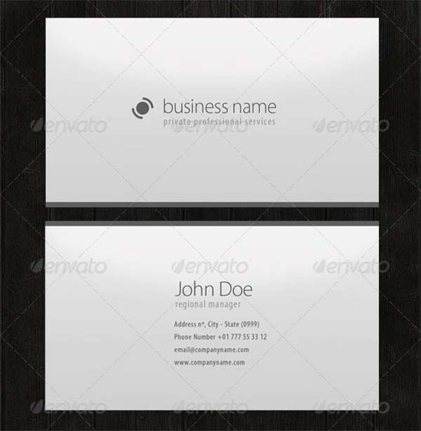Professional Minimalistic Business Cards