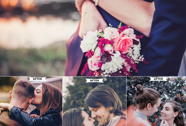 Romantic Photoshop Actions Template