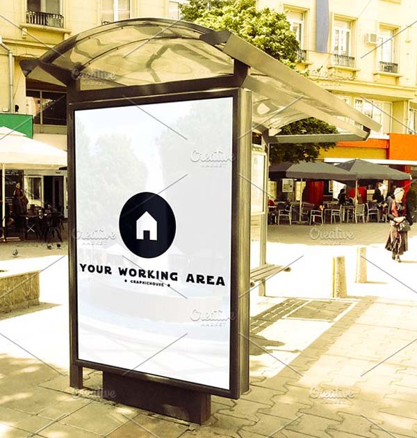 Sample Bus Stop Mockup
