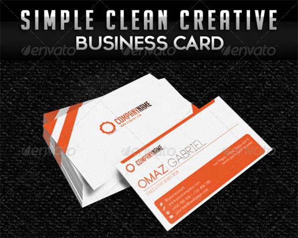 Simple Clean Minimalist Business Card