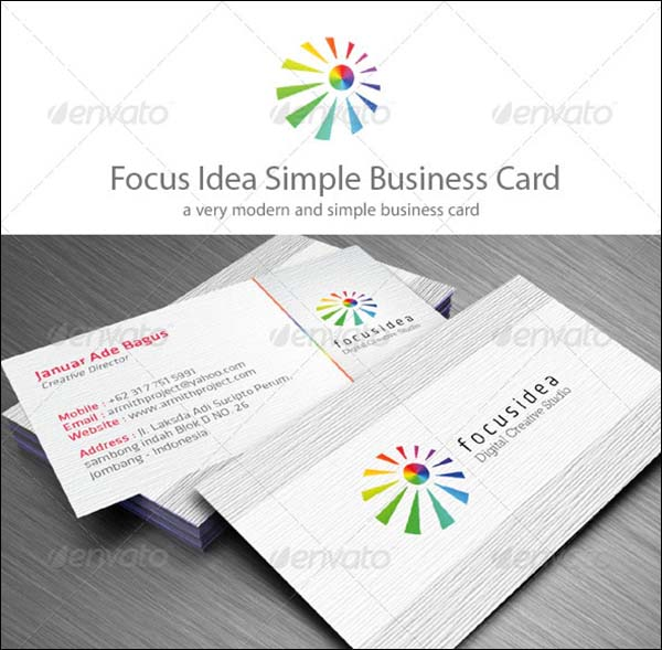 Simple Minimalist Creative Business Card