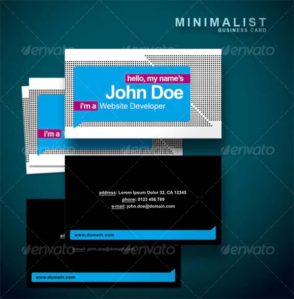 Stylish Minimalist Business Card Template
