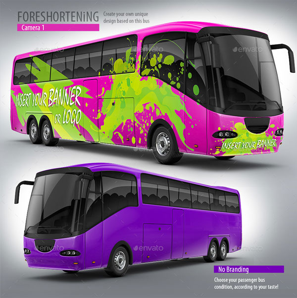Tourist Branded Bus Mock-up